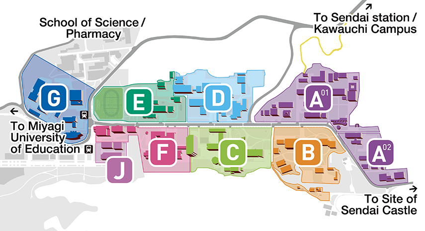 Applied Materials Campus Map.Campus Map School Of Engineering Tohoku University